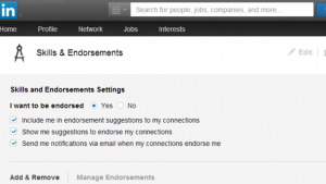 authorize skills and endorsements linkedin